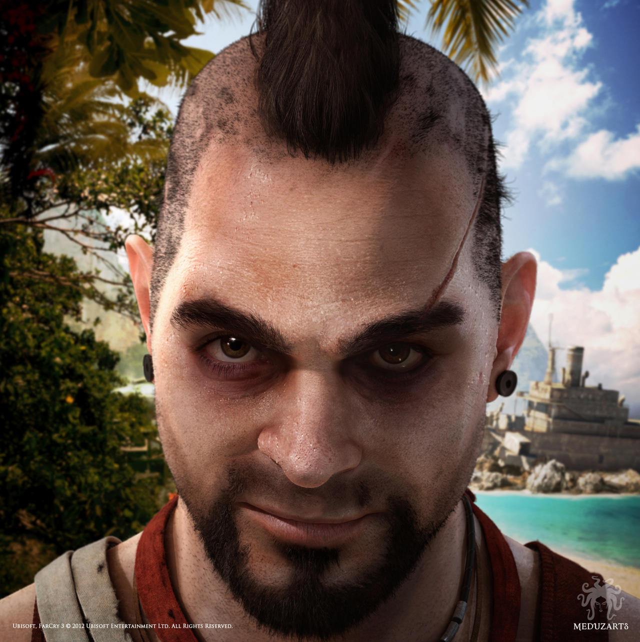 Far Cry 3: Vaas Key Art by meduzarts on DeviantArt