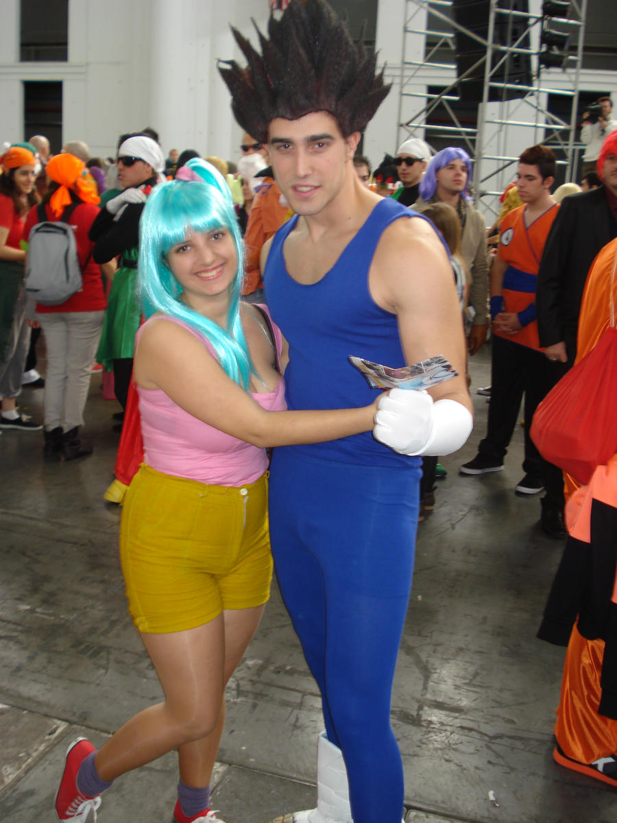 Bulma and Vegeta by claudia1542