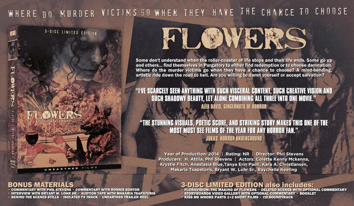 FLOWERS Unearthed Films DVD Release! by Manomatul
