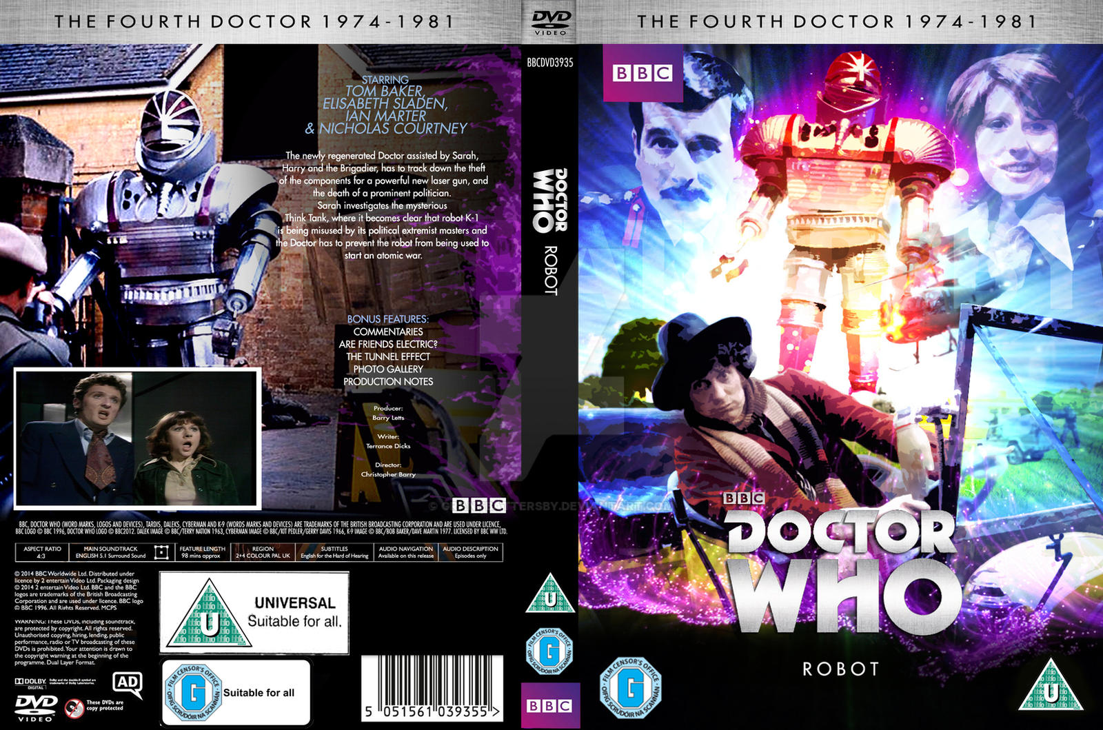 Doctor Who Robot custom DVD cover  by GrantBattersby on DeviantArt