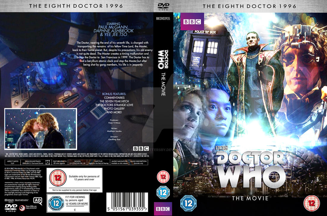 doctor who the movie custom dvd cover by grantbattersby on deviantart