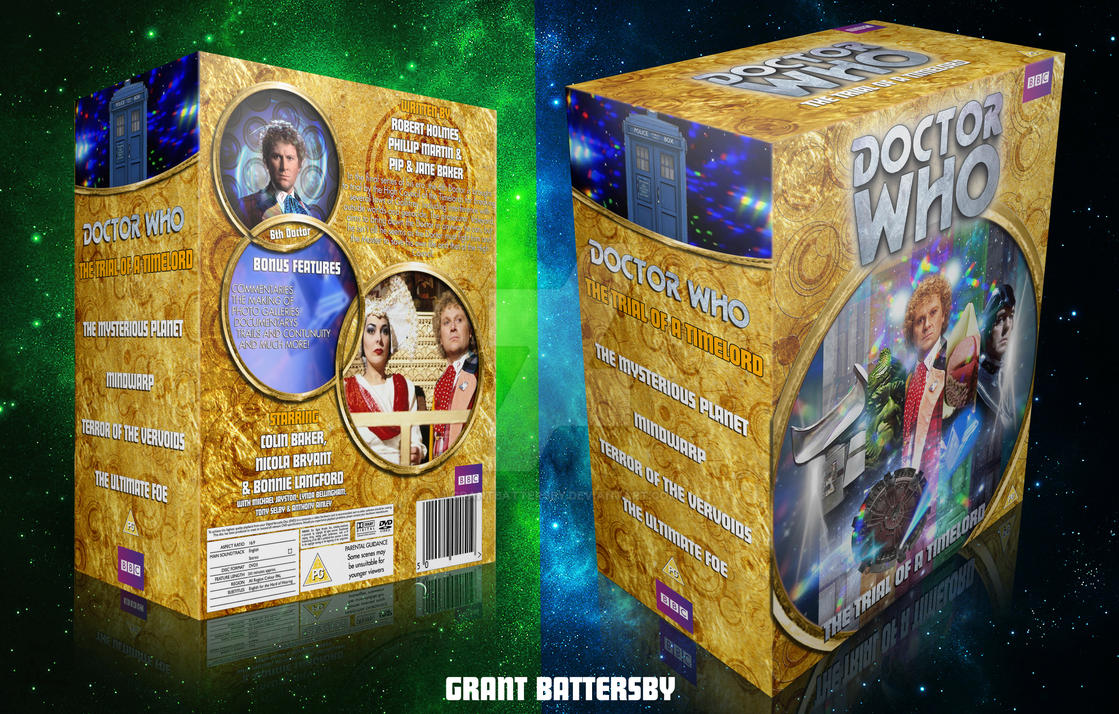 Dr Who Trial Of A Timelord Custom DVD Box Set By GrantBattersby On