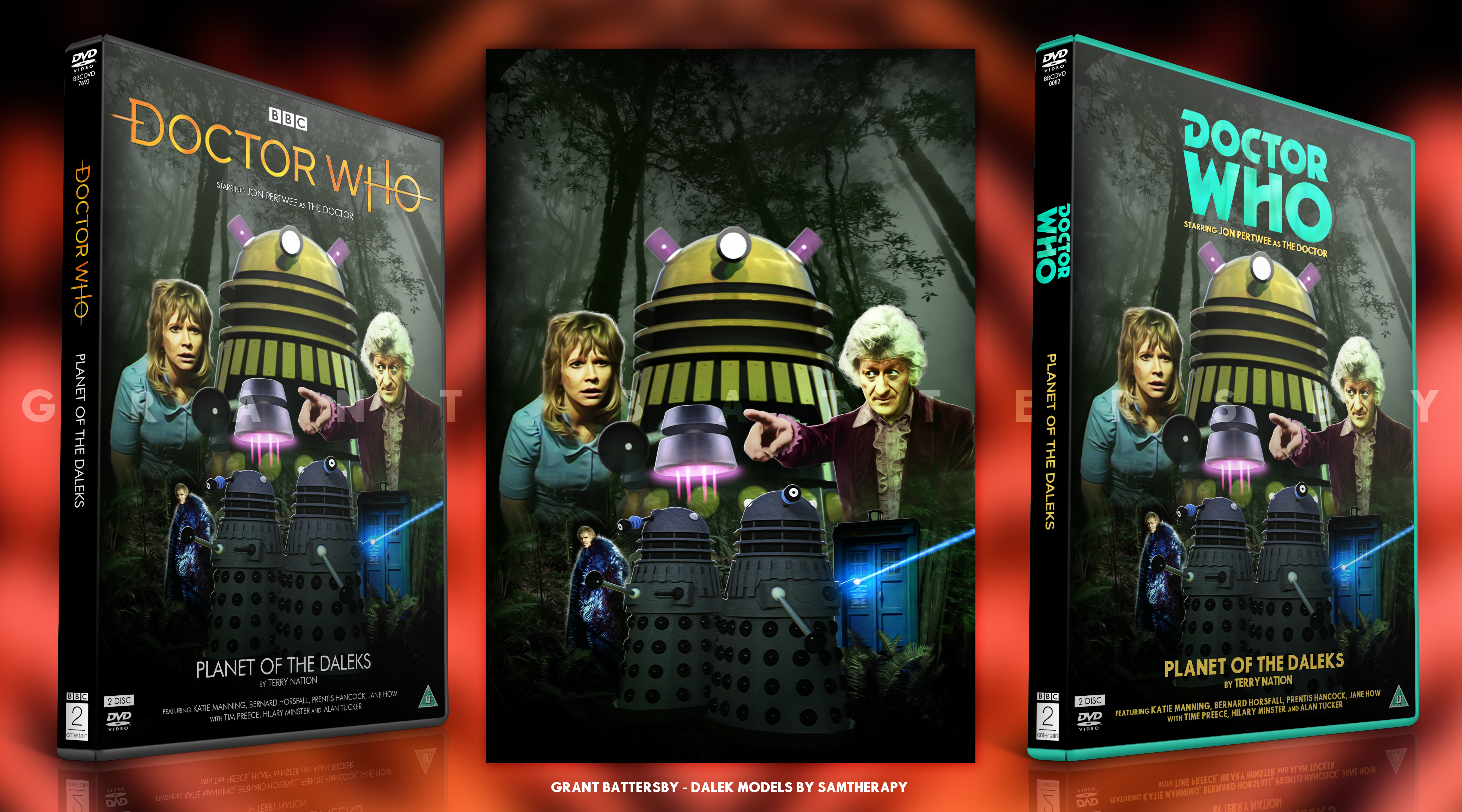 Doctor Who - Planet of the Daleks DVD Cover by GrantBattersby