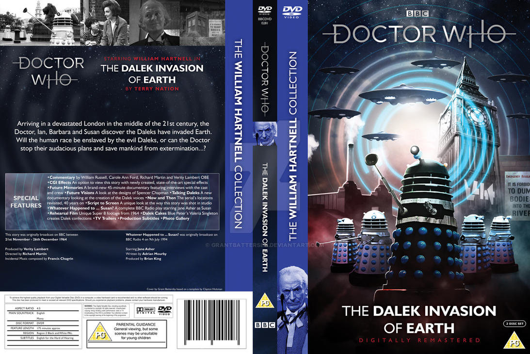 Dalek Invasion of Earth DVD reworked by GrantBattersby