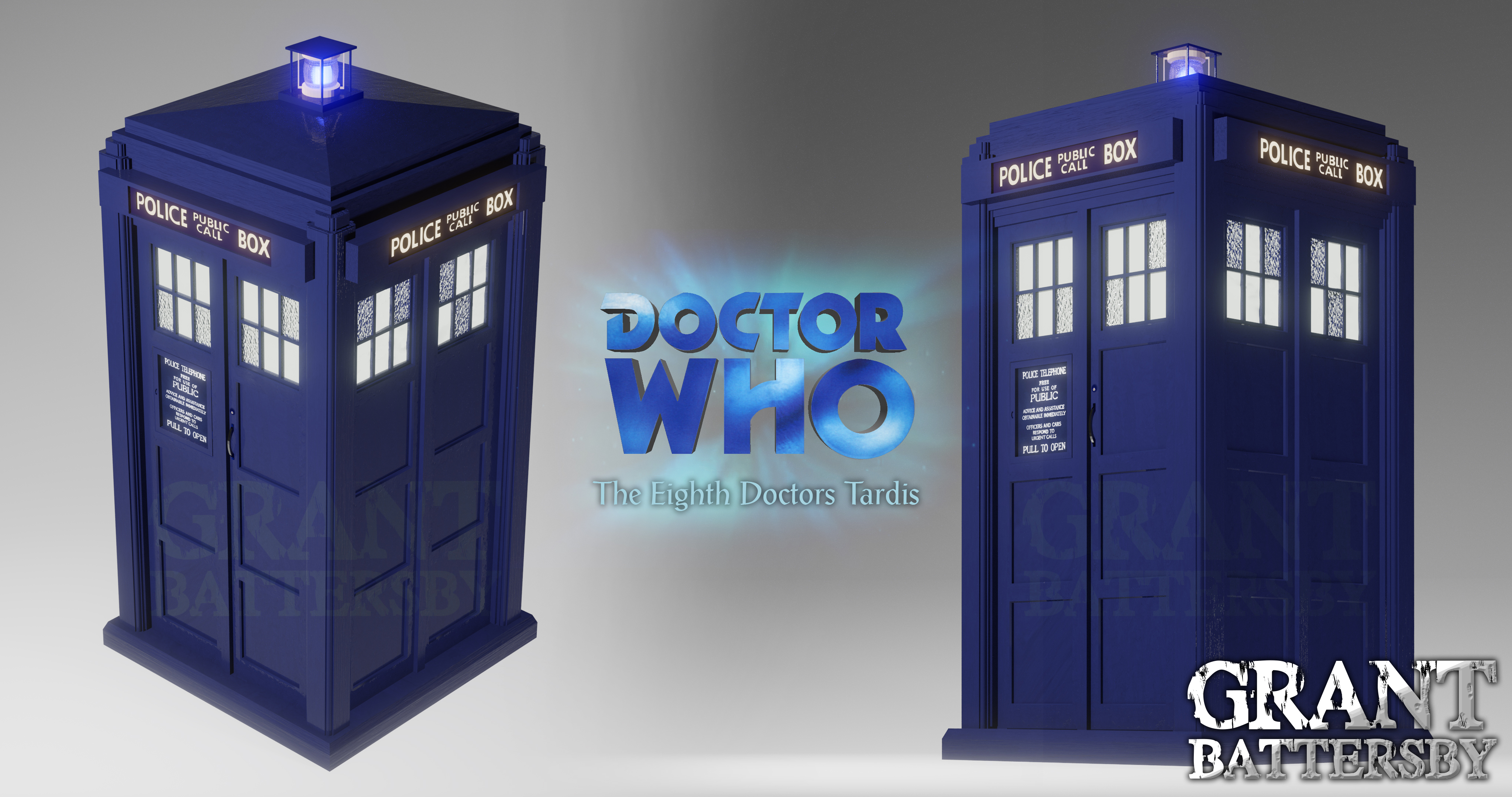Doctor Who - The 8th Doctors Tardis CG Model