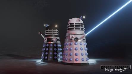 Dead Planet Dalek Drone and Supreme