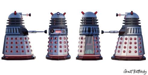My Original Dalek Design - All Sides