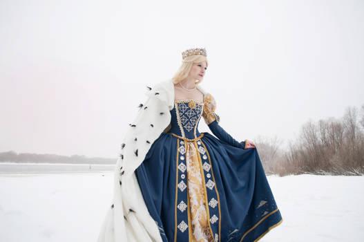 Mistress of winter lake