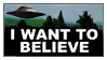 I Want to Believe by manticor-stamps