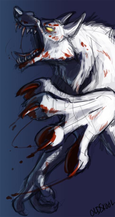 Angry Werewolf 2 by oldskoolpunker