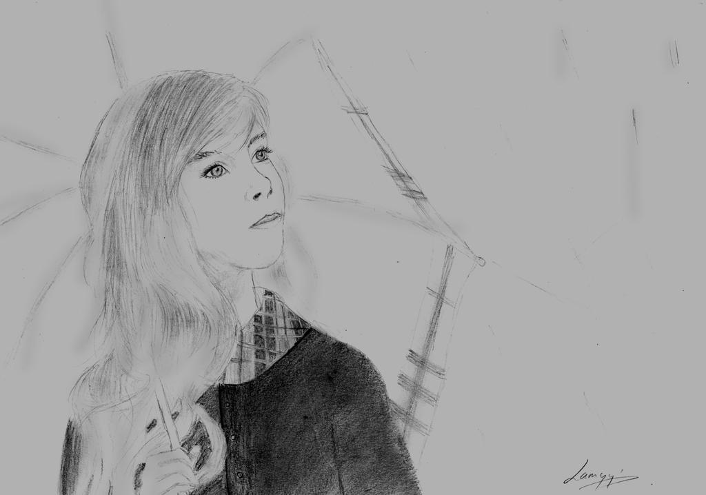 Dessin & photos [news] Little_girl_drawing_by_lamyysart-d5up8tv