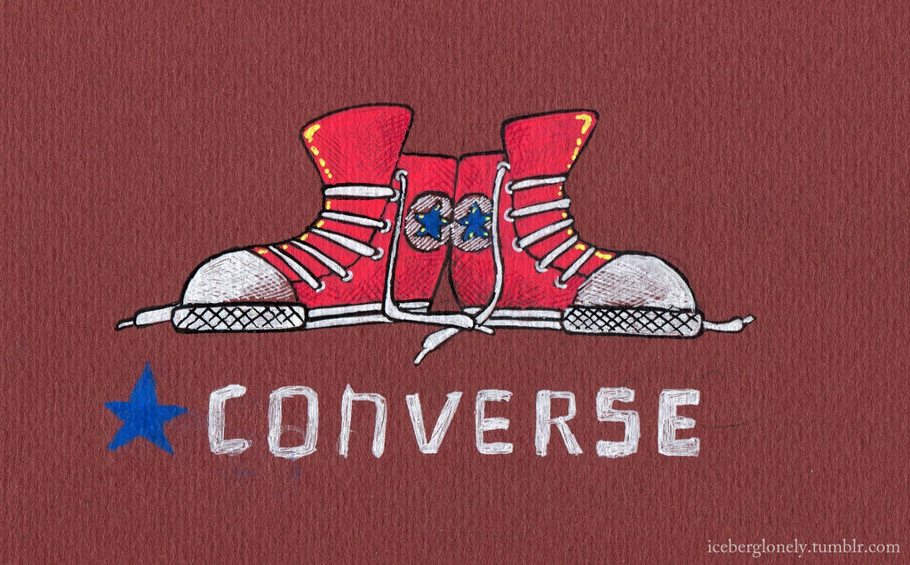 Red Converse by IcebergLonely