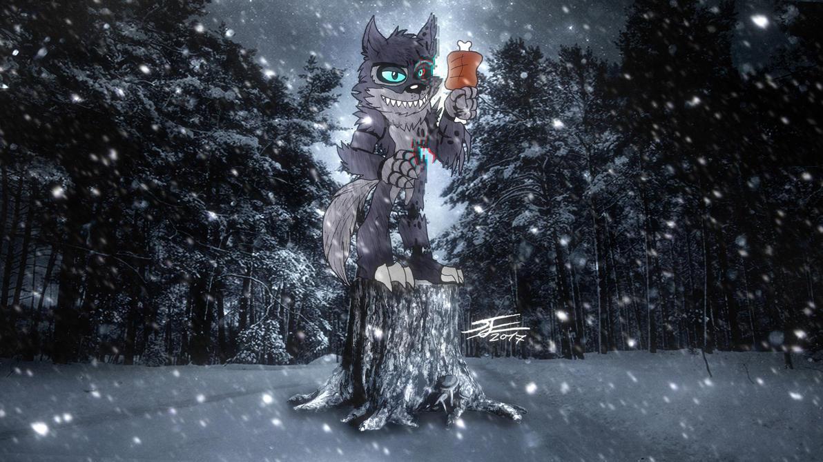 FNAF WORLD - Encounter with Twisted Wolf by BlueWolfArtista