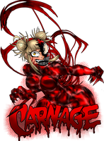 Himiko Toga is Carnage by BlueWolfArtista