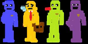 FNAF - Pixels Security Guards (Death Minigames)