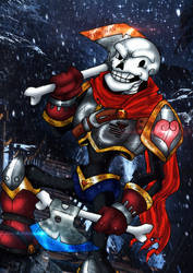 UnderWar - Sir Papyrus the Noble by BlueWolfArtista