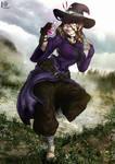 MineCraft - Witch Concept Art Cover by BlueWolfArtista