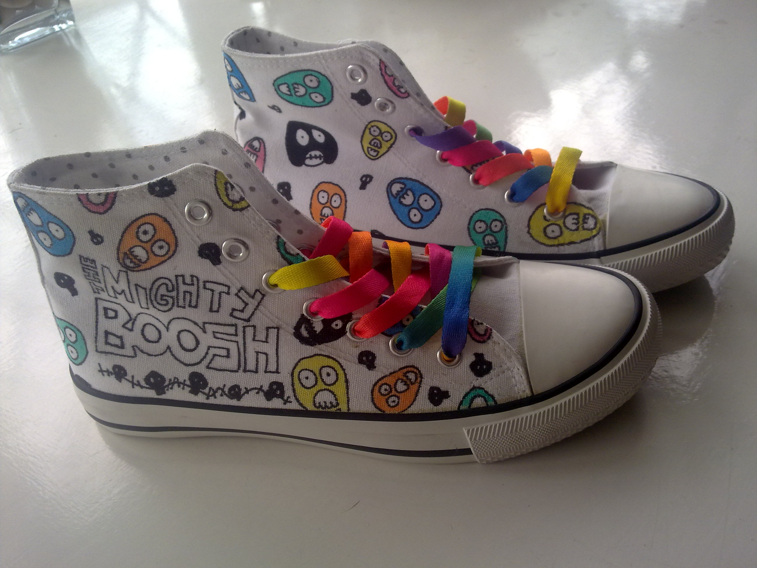 The Mighty Boosh Custom Hi-tops by EternusNexxx