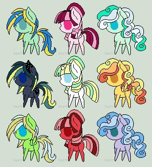 5 point Pony Adopts by JesElaMar