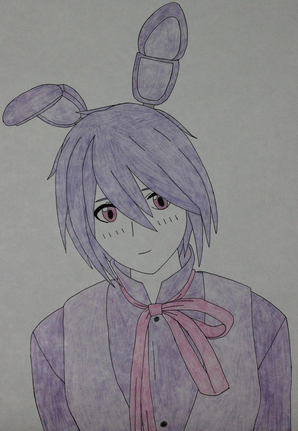 Human bonnie drawing by sweetgirl333 on deviantart
