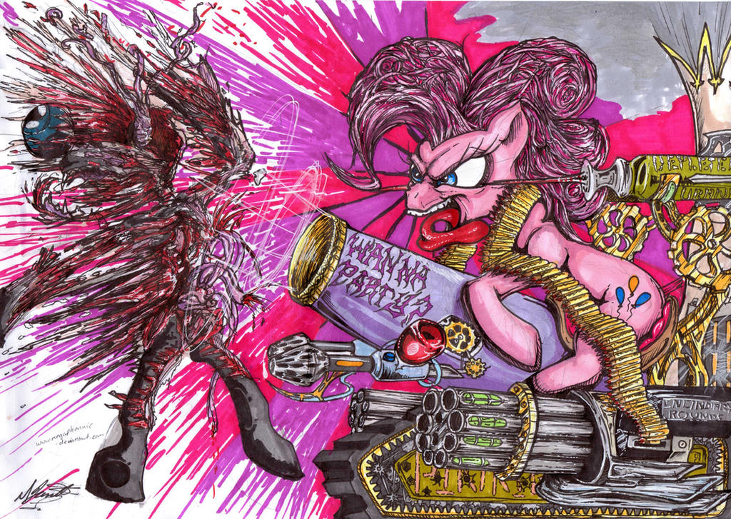 Pinkie Die by megaphonnic