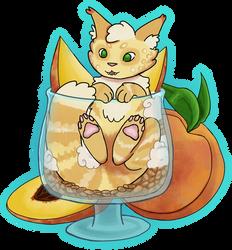 peach parfait kitkat
