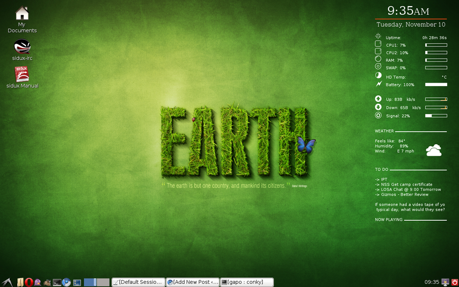 My LXDE DESKTOP - screenshot
