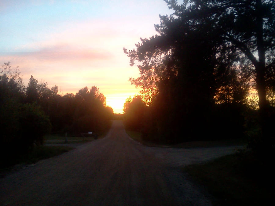sunset on a country road 2 by kingbob24