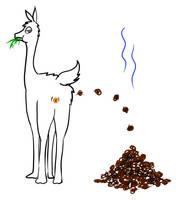 Llama Popo by Fecalio