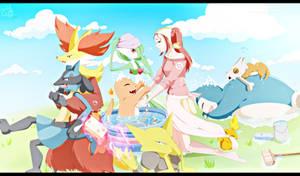 Pokemon OC~ Bathing time