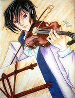 Lelouch with Violin by Chinese-Shinigami