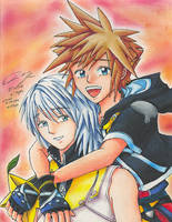 Sora and Riku by Chinese-Shinigami