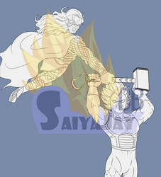 Vegeta vs Thor Preview by JaySherman93
