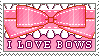 I love Bows by makeitstampy
