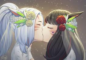 A passionate kiss ~ FFXIV by andonoz