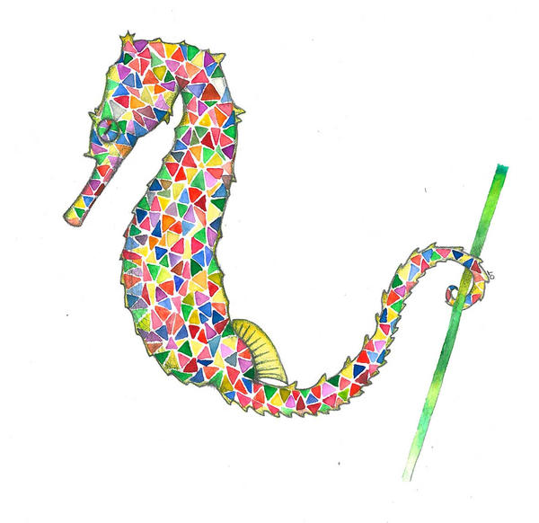 Colorful dreams 4 - Seahorse by asimplestory on DeviantArt