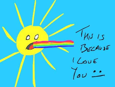 SunshineRainbowVomit by dxd