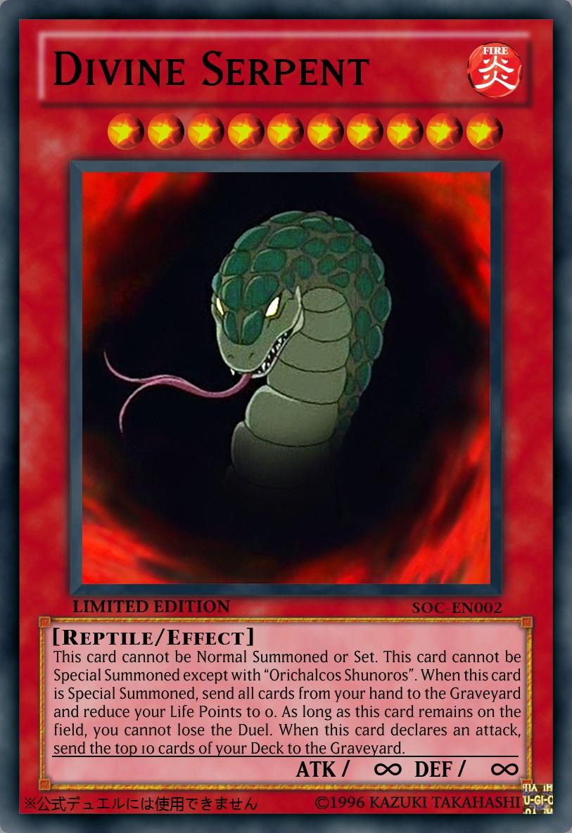 Divine Serpent by PlayStationScienceYugioh Divine Serpent