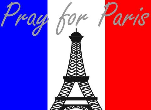 Prays for Paris