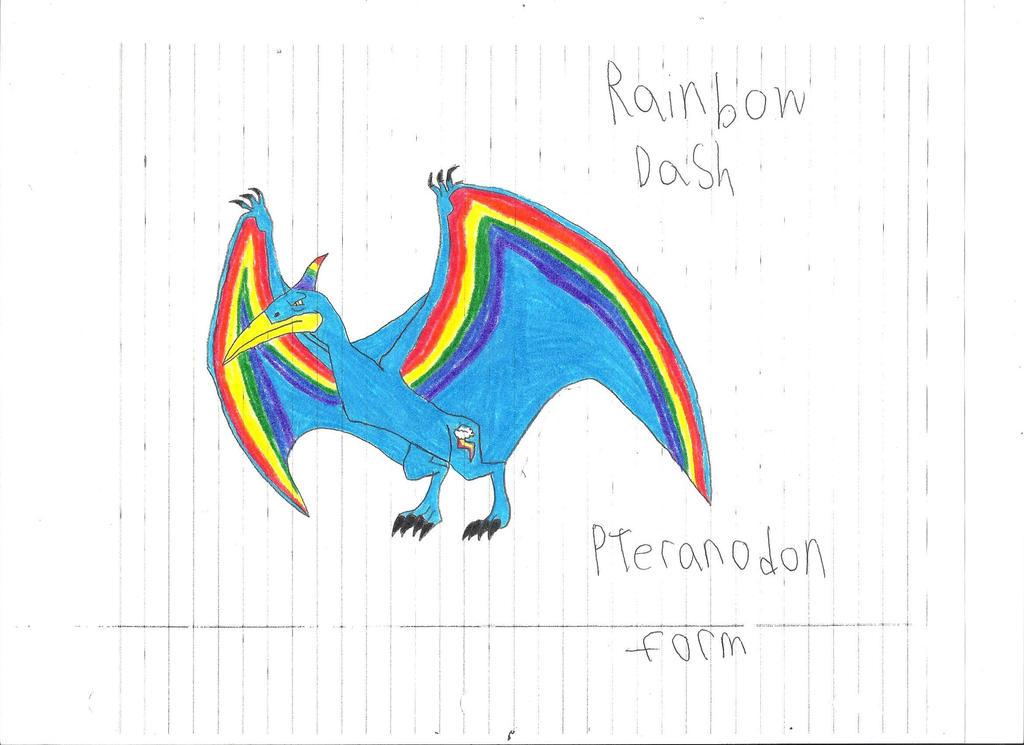 Rainbow Dash Pteranodon form by Dinosuarjosh on DeviantArt