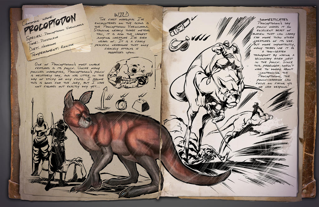 Ark: Survival Evolved Dossiers: Procoptodon by DJDinoJosh on DeviantArt