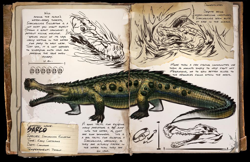 Ark: Survival Evolved Dossiers: Sarco by DJDinoJosh on DeviantArt