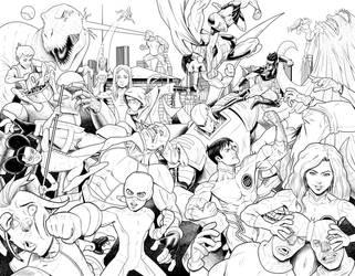 Heroes: Ignited Annual #1 cover by drawerofdrawings