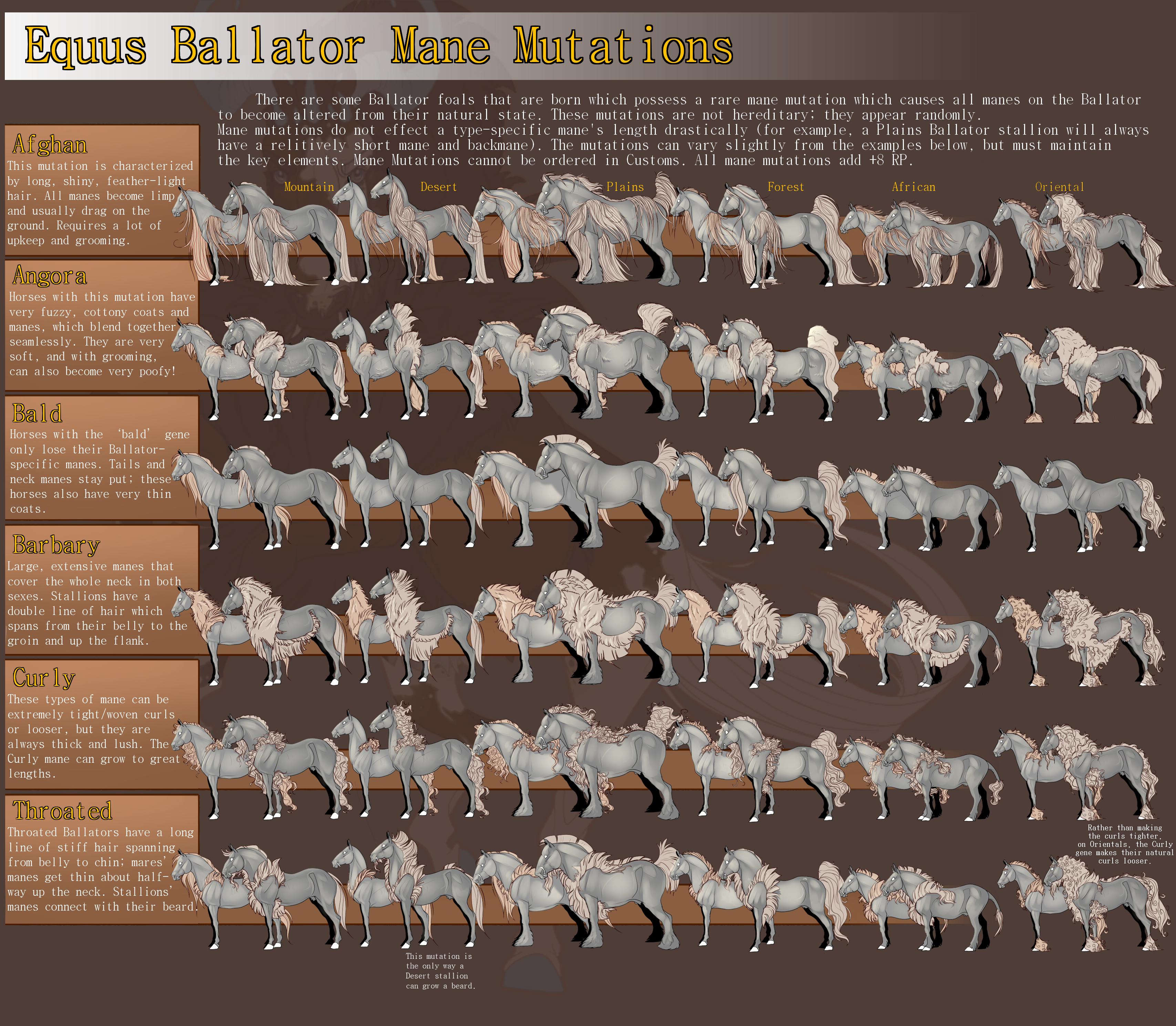 Equus Ballator Mane Mutations