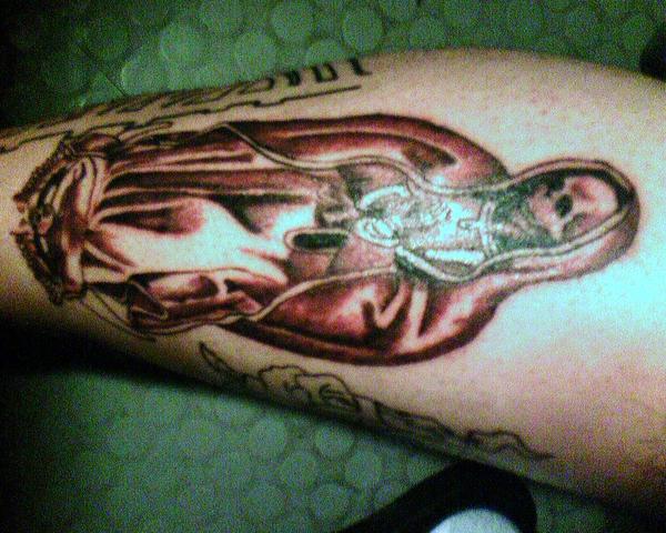 virgin mary skeleton tattoo by neuralgia on deviantart. Black Bedroom Furniture Sets. Home Design Ideas