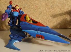 Eldar Vyper Jetbike - Blue 1 by NPlusPlus