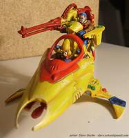 Eldar Vyper Jetbike - Yellow 1 by NPlusPlus