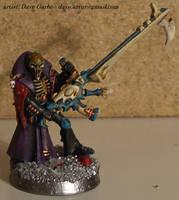 Eldar Harlequin - Death Jester by NPlusPlus