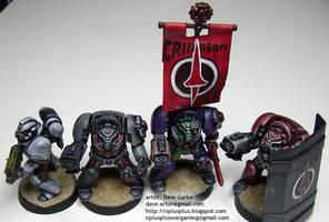 Crimson Lance Space Marines by NPlusPlus