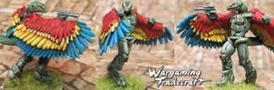 Anthropomorphic Flying Lizard by NPlusPlus